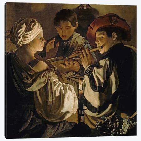 Concert, C.1626 Canvas Print #BMN11908} by Hendrick Ter Brugghen Art Print