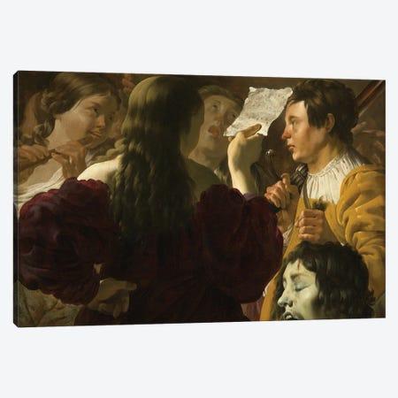 David Praised By The Israelite Women, 1623 Canvas Print #BMN11909} by Hendrick Ter Brugghen Art Print