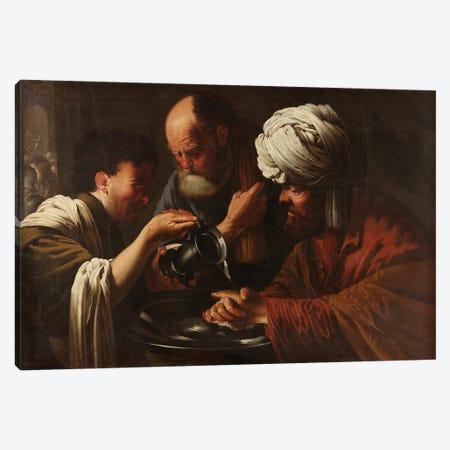Pilate Washing His Hands, C.1615-1628 Canvas Print #BMN11910} by Hendrick Ter Brugghen Canvas Wall Art