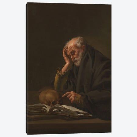 Saint Jerome, C.1621 Canvas Print #BMN11911} by Hendrick Ter Brugghen Canvas Artwork