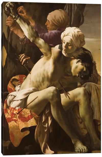 St. Sebastian Tended By Irene, 1625 Canvas Art Print