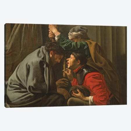 The Crowning With Thorns And The Mocking Of Christ Canvas Print #BMN11916} by Hendrick Ter Brugghen Canvas Art Print