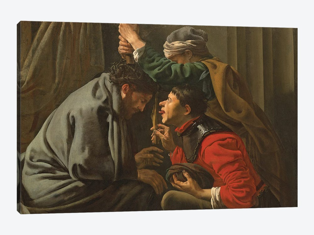 The Crowning With Thorns And The Mocking Of Christ by Hendrick Ter Brugghen 1-piece Canvas Print