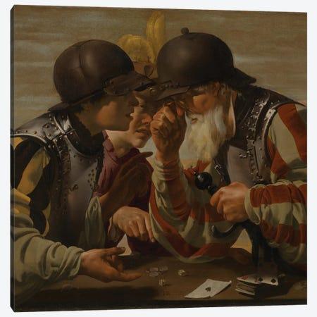 The Gamblers, 1623 Canvas Print #BMN11919} by Hendrick Ter Brugghen Canvas Art
