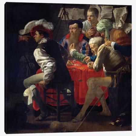 Vocation Of Saint Matthew Jesus Leaving Capharnaum Meets Matthew And Asks Him To Follow Him Canvas Print #BMN11922} by Hendrick Ter Brugghen Canvas Art Print