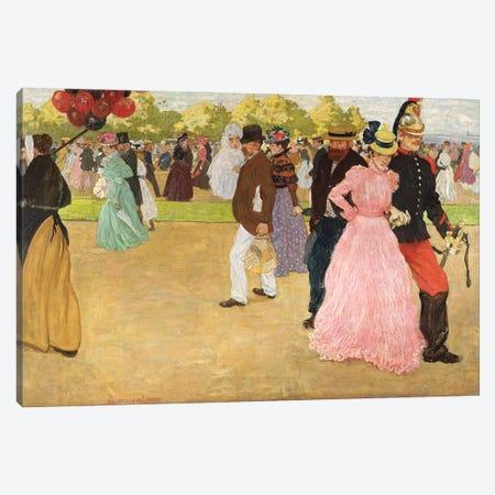 A Sunday Walk In The Bois De Boulogne, 1899 Canvas Print #BMN11925} by Henri Jacques Edouard Evenepoel Canvas Artwork