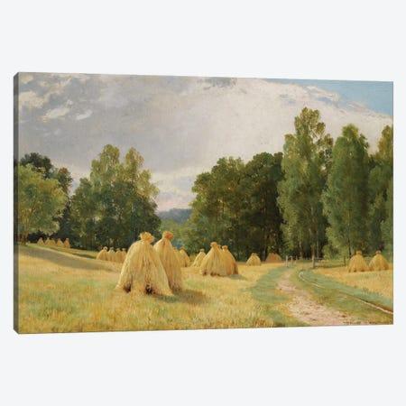 Meules De Foin A Preobrajenskoie, 1890 Canvas Print #BMN11929} by Ivan Ivanovich Shishkin Canvas Art Print
