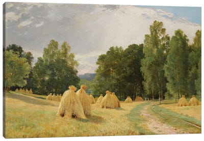 Meules De Foin A Preobrajenskoie, 1890 Canvas Art Print