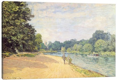 The Thames with Hampton Church (La Tamise Avec Hampton Church), 1874 Canvas Art Print