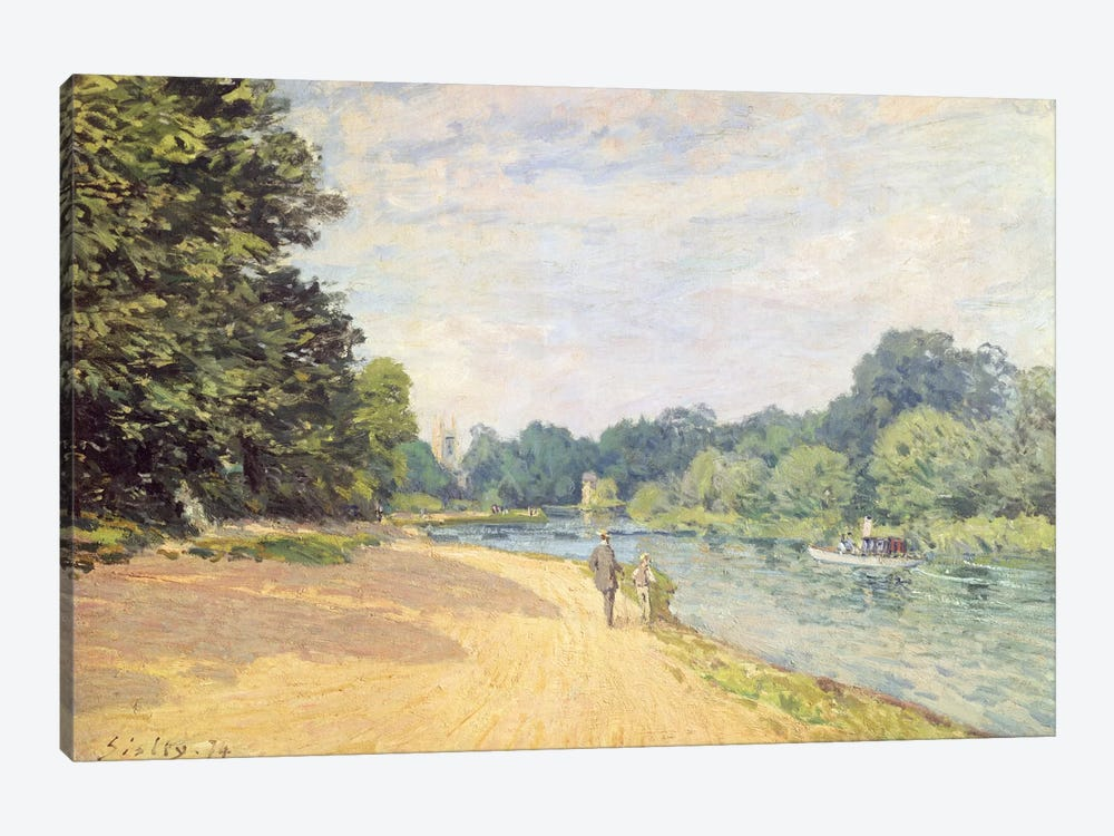 The Thames with Hampton Church (La Tamise Avec Hampton Church), 1874 by Alfred Sisley 1-piece Canvas Art Print