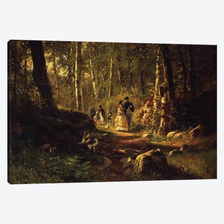 A Walk In A Forest, 1869 Canvas Print #BMN11931} by Ivan Ivanovich Shishkin Canvas Art