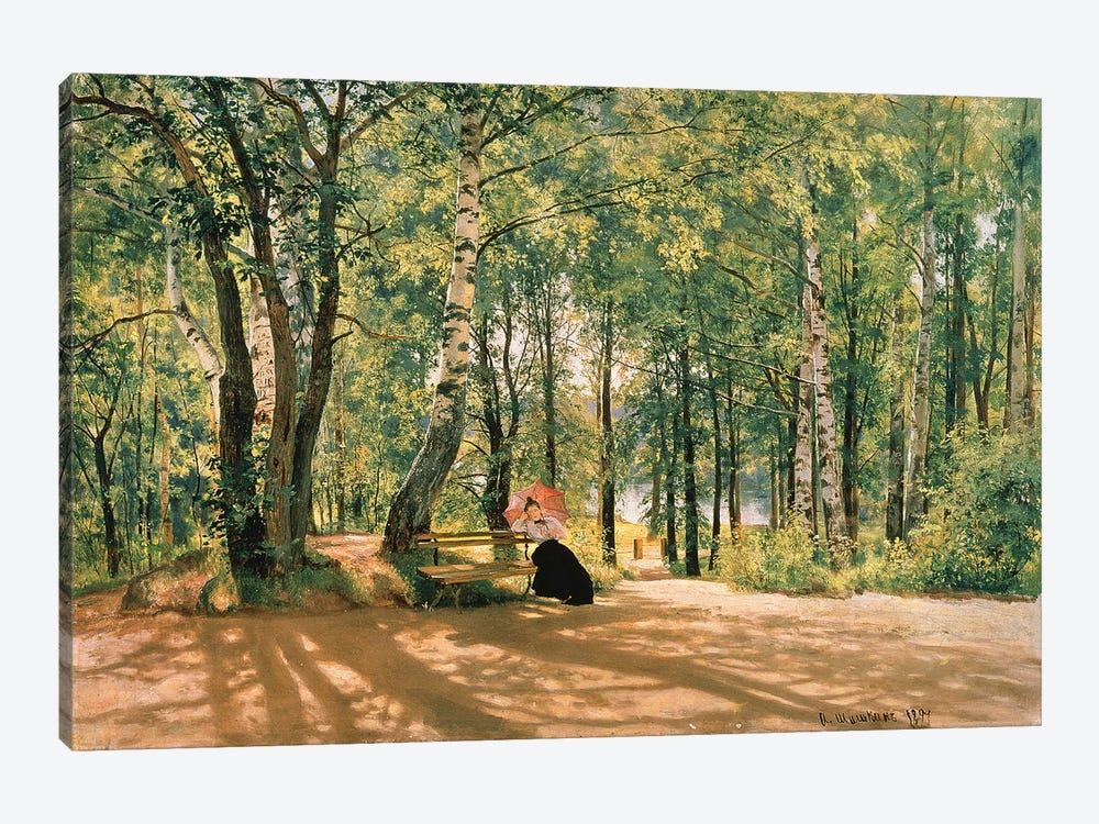 At The Summer Cottage, 1894 by Ivan Ivanovich Shishkin 1-piece Canvas Art Print