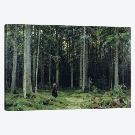 Countess Mordvinov's Forest, 1891 Canvas Print #BMN11933} by Ivan Ivanovich Shishkin Canvas Wall Art