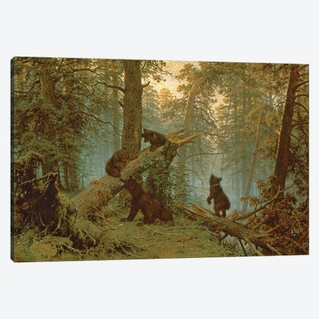 Morning In A Pine Forest, 1889 Canvas Print #BMN11935} by Ivan Ivanovich Shishkin Art Print