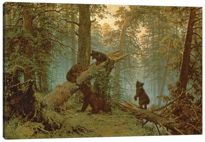 Morning In A Pine Forest, 1889 Canvas Art Print
