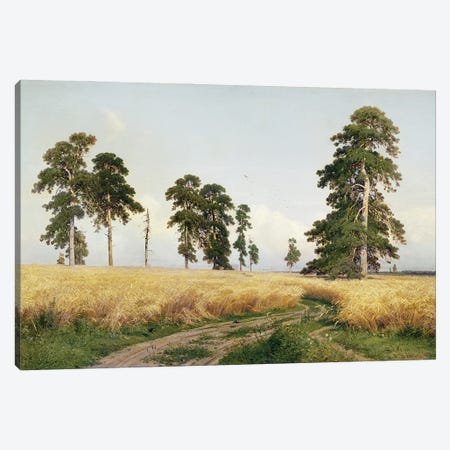 The Field Of Wheat, 1878 Canvas Print #BMN11937} by Ivan Ivanovich Shishkin Canvas Print