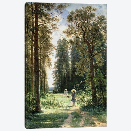 The Path Through The Woods, 1880 Canvas Print #BMN11938} by Ivan Ivanovich Shishkin Canvas Wall Art
