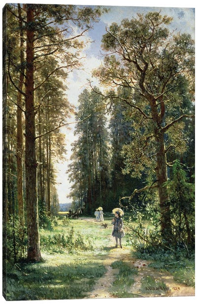 The Path Through The Woods, 1880 Canvas Art Print