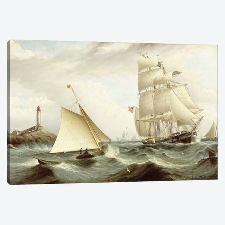 Picking Up The Pilot-Isle Of Shoals, New Hampshire, Canvas Print #BMN11943} by James E. Buttersworth Art Print