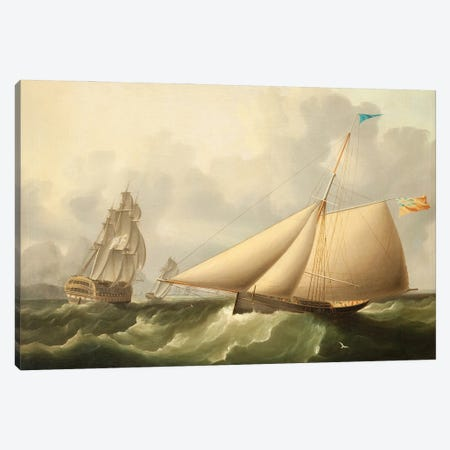 Seascape Canvas Print #BMN11944} by James E. Buttersworth Canvas Wall Art