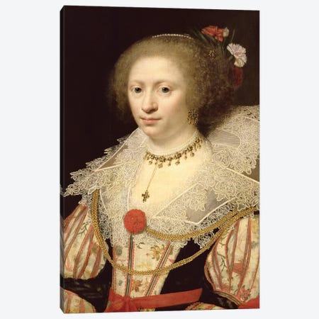 Portrait Of A Woman Canvas Print #BMN11949} by Jan Anthonisz Van Ravesteyn Art Print