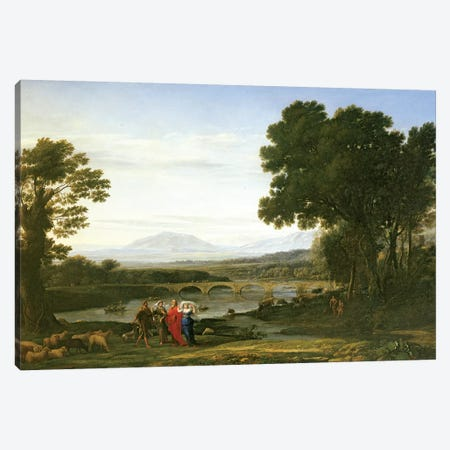 Landscape with Jacob and Laban and Laban's Daughters, 1654 Canvas Print #BMN1194} by Claude Lorrain Art Print