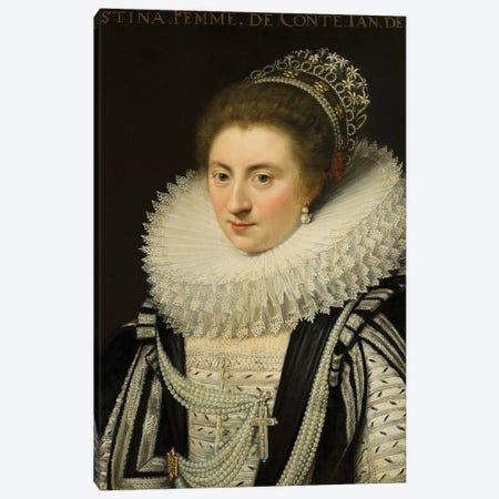 Portrait Of Ernestine Yolande, Princess Of Ligne, After 1618 Canvas Print #BMN11951} by Jan Anthonisz Van Ravesteyn Canvas Artwork