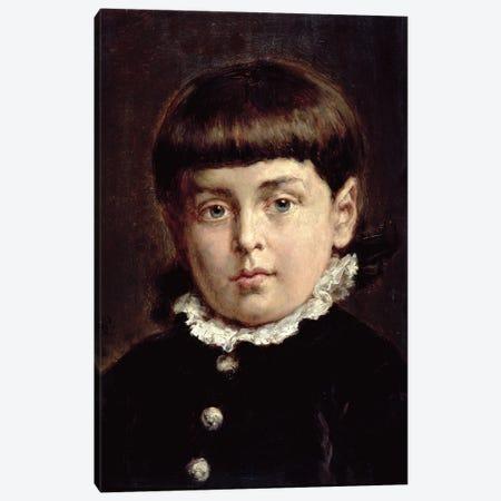 Portrait Of A Young Boy, 1883 Canvas Print #BMN11957} by Jan Matejko Canvas Art Print