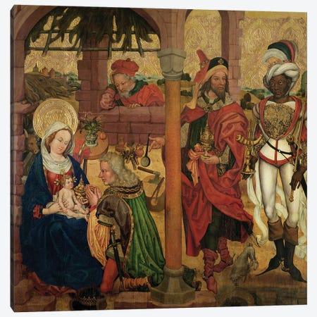 Adoration Of The Magi, C.1475 Canvas Print #BMN11973} by Martin Schongauer Canvas Art