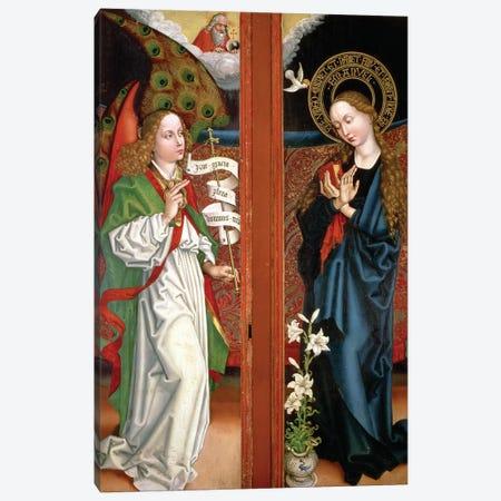 Annunciation Canvas Print #BMN11976} by Martin Schongauer Canvas Print