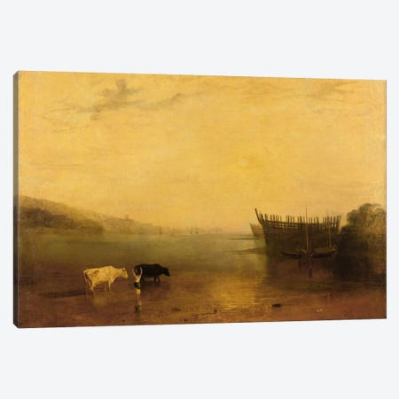Teignmouth Harbour, c.1812 Canvas Print #BMN1197} by J.M.W. Turner Canvas Art Print
