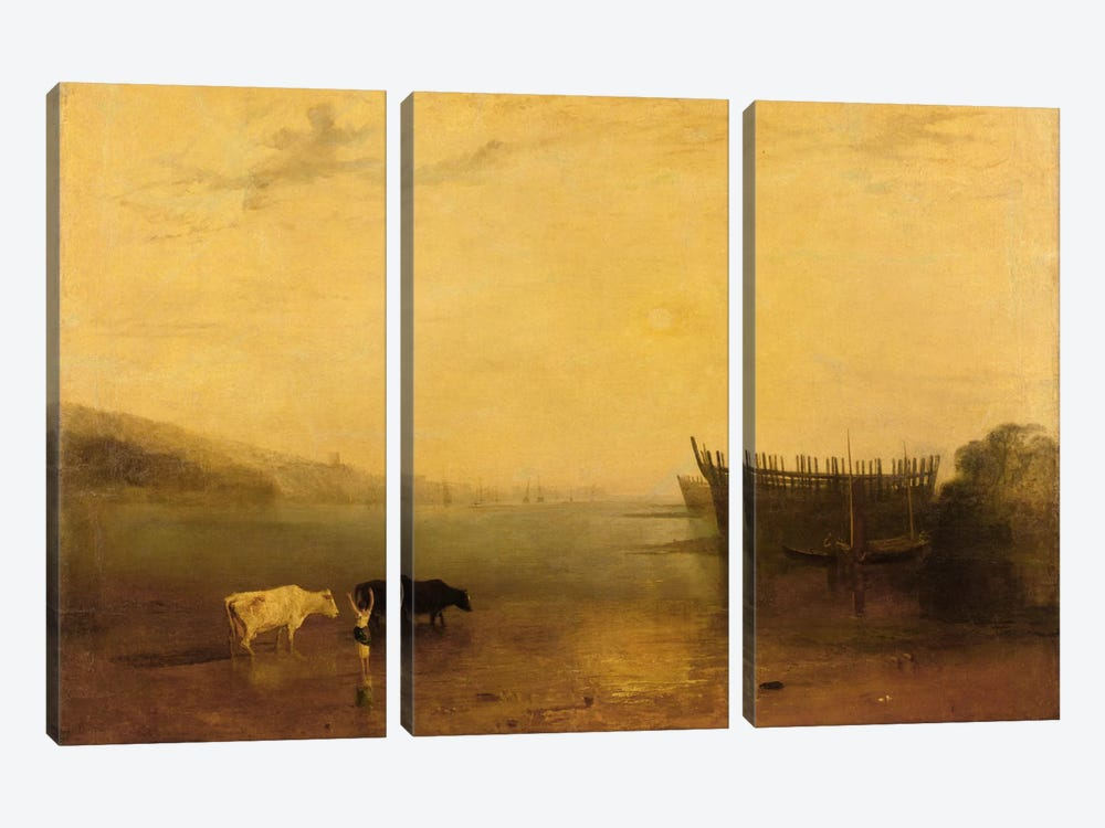 Teignmouth Harbour, c.1812 by J.M.W. Turner 3-piece Canvas Art