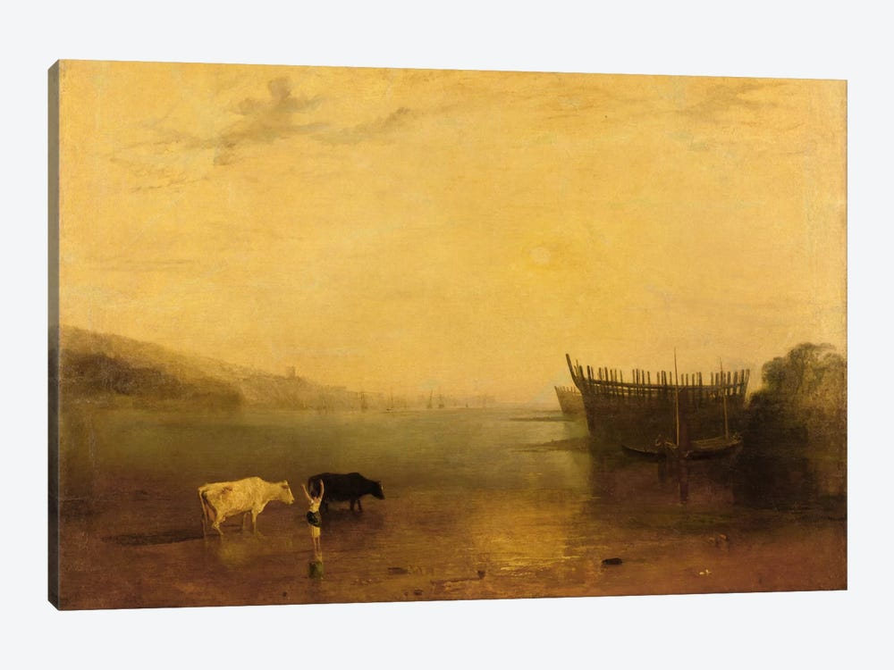 Teignmouth Harbour, c.1812 by J.M.W. Turner 1-piece Canvas Wall Art