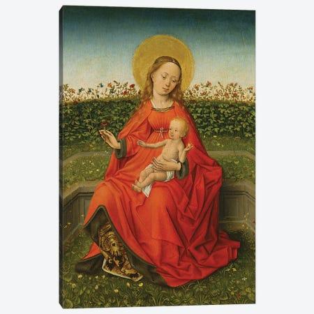 Maria Of The Rose Bush Canvas Print #BMN11984} by Martin Schongauer Canvas Art