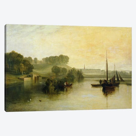 Petworth, Sussex, the Seat of the Earl of Egremont: Dewy Morning, 1810  Canvas Print #BMN1198} by J.M.W Turner Canvas Artwork