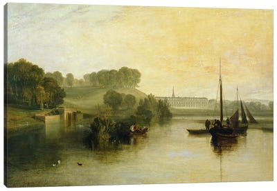 Petworth, Sussex, the Seat of the Earl of Egremont: Dewy Morning, 1810  Canvas Art Print