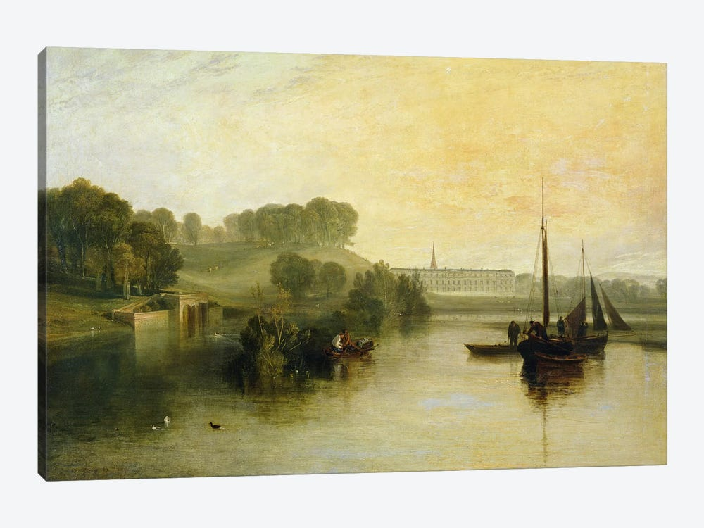 Petworth, Sussex, the Seat of the Earl of Egremont: Dewy Morning, 1810 by J.M.W. Turner 1-piece Canvas Print