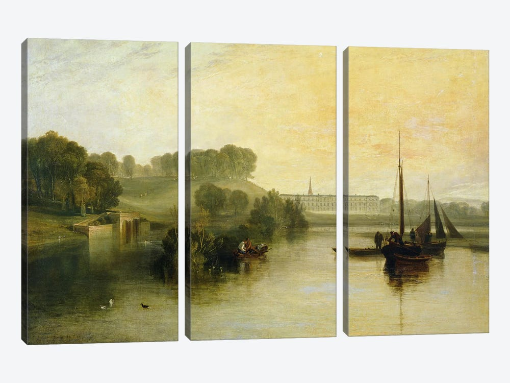 Petworth, Sussex, the Seat of the Earl of Egremont: Dewy Morning, 1810  by J.M.W. Turner 3-piece Canvas Print