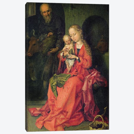 The Holy Family, C.1480-90 Canvas Print #BMN11996} by Martin Schongauer Art Print