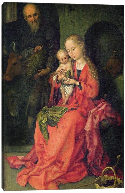 The Holy Family, C.1480-90 Canvas Art Print