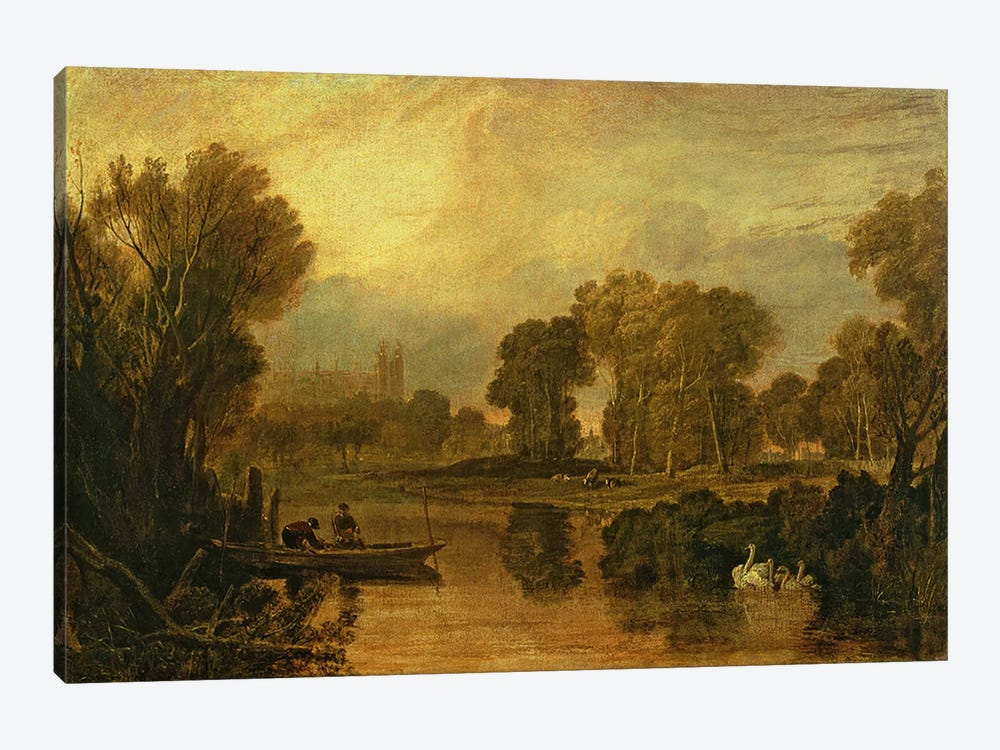 Eton College from the River, or The Thames at Eton, c.1808 by J.M.W. Turner 1-piece Canvas Art