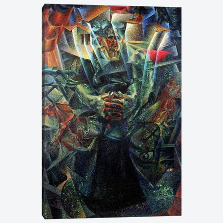 Materia, 1912 (oil on canvas) Canvas Print #BMN119} by Umberto Boccioni Canvas Artwork