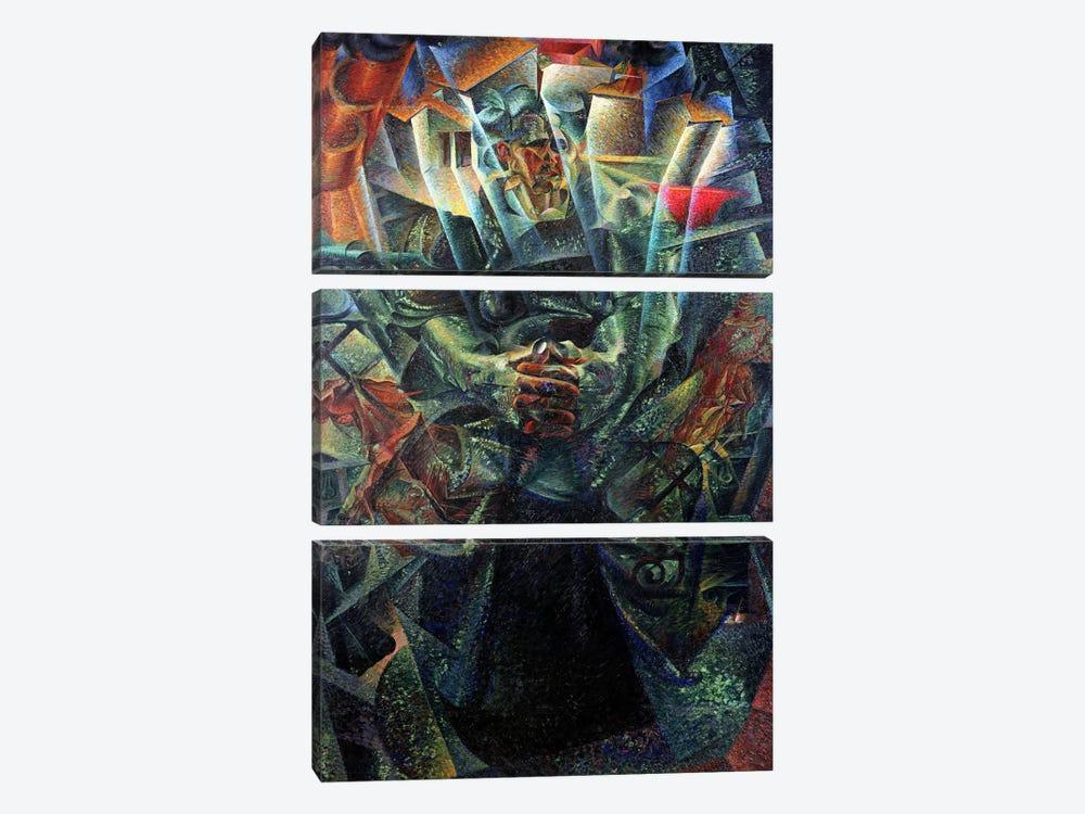 Materia, 1912 (oil on canvas) by Umberto Boccioni 3-piece Canvas Art