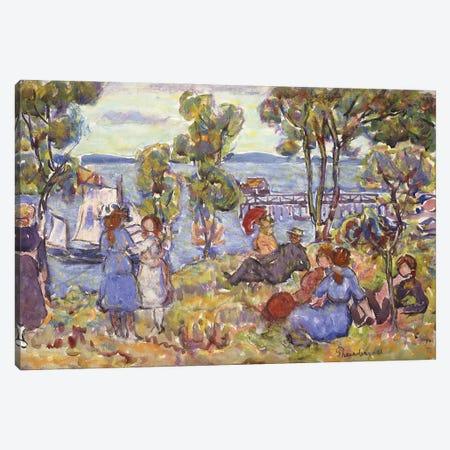 Boat Landing, Nahant Massachusetts, Canvas Print #BMN12004} by Maurice Brazil Prendergast Canvas Art Print