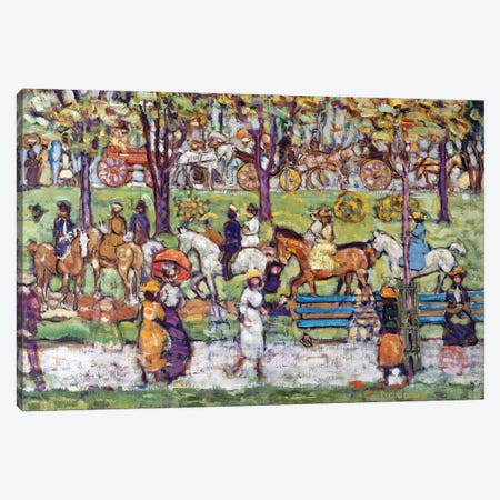 Central Park, C.1914-15 Canvas Print #BMN12006} by Maurice Brazil Prendergast Canvas Art Print