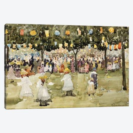 Central Park, New York City, July 4Th, C.1900-03 Canvas Print #BMN12008} by Maurice Brazil Prendergast Canvas Artwork