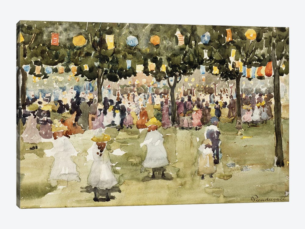 Central Park, New York City, July 4Th, C.1900-03 by Maurice Brazil Prendergast 1-piece Canvas Wall Art