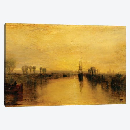 Chichester Canal, c.1829 Canvas Print #BMN1200} by J.M.W. Turner Canvas Art