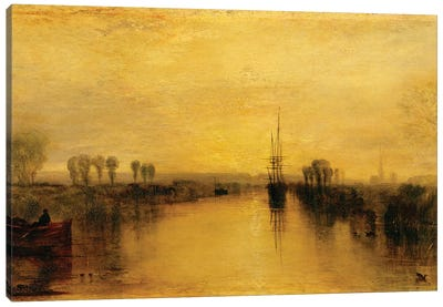 Chichester Canal, c.1829 Canvas Art Print