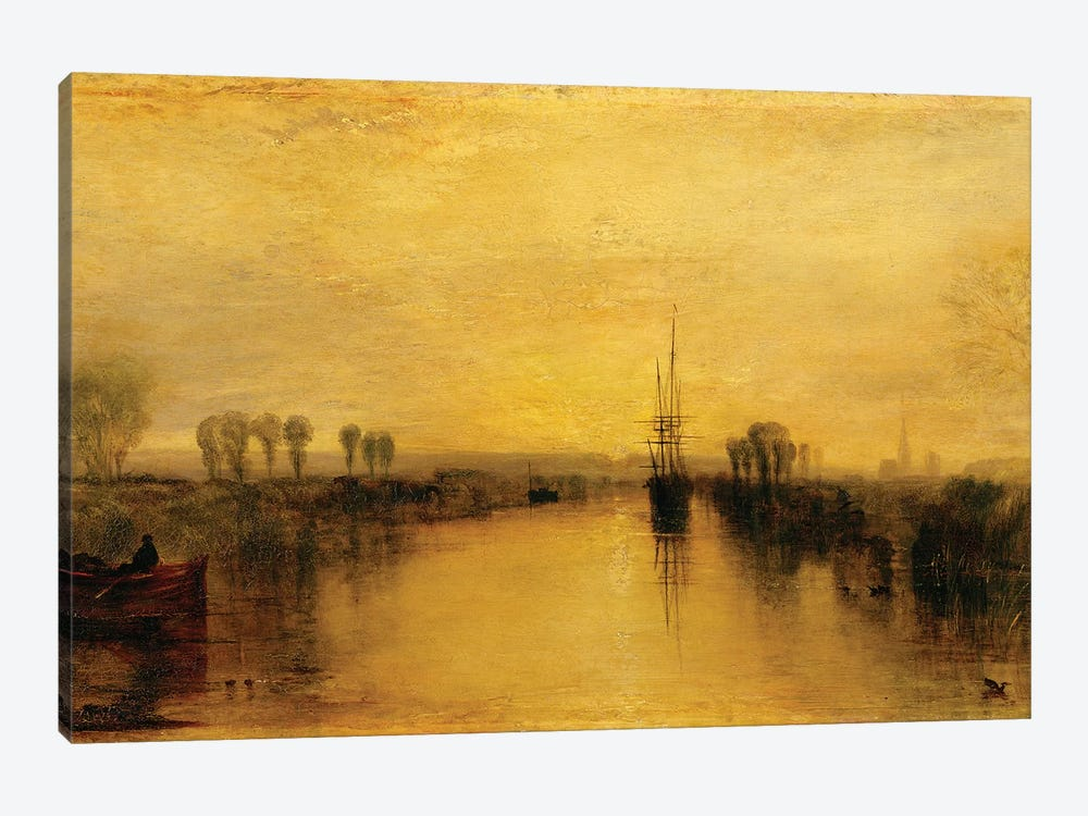 Chichester Canal, c.1829 by J.M.W. Turner 1-piece Canvas Wall Art
